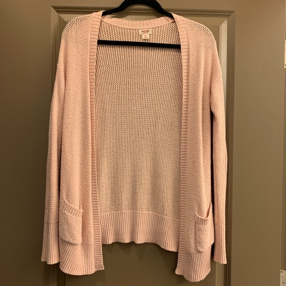Mossimo Knit Baby Pink Cardigan with Pockets